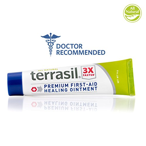 First Aid Healing Cream - Premium 3X Faster Healing Dr Recommended Patented All Natural for Emergency Kits Quick Clot Cuts Scrapes Burns ()