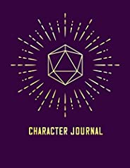 Character Journal: 8.5x11 Character Sheet | RPG Companion Notebook | DND Character Log | Ruled Line and Graph