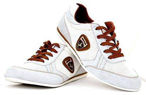 Scarpe Da Ginnastica Da Uomo Casual Pizzo Pelle Abito Elegante scarpe  misura inglese  Amazon.it  Scarpe e borse eb77b808cf4
