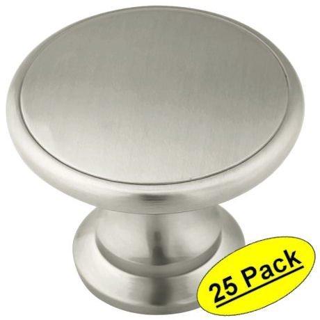 Amerock BP1466-2-G10 Satin Nickel Hint of Heritage Traditional Oversized Knob 1-3/4-Inch Diameter, 25 Pack by Amerock