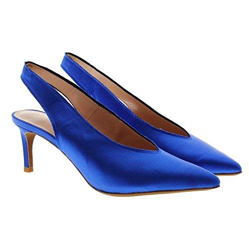 012z85bk Fiesta Azul Satén Zapato Lola Cruz 4gcW8qX