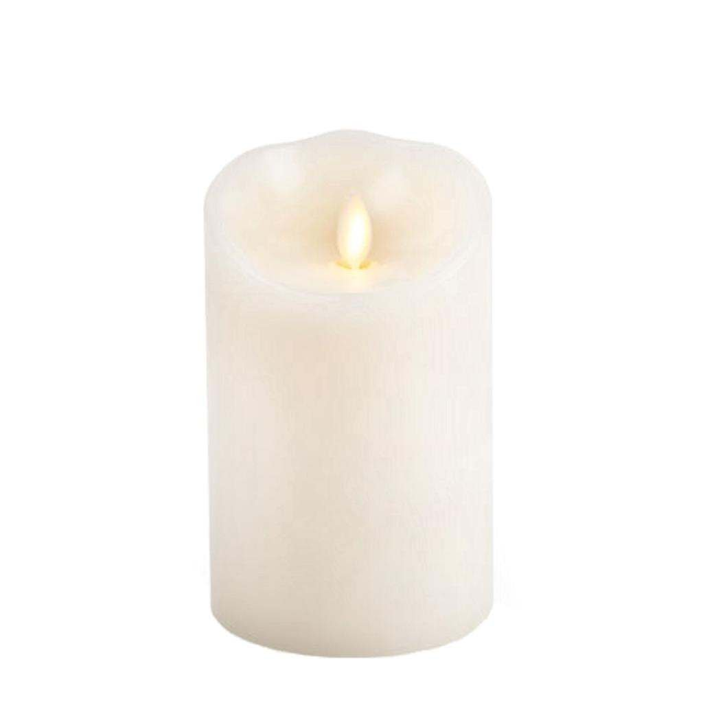 Luminara Flameless Candle Unscented Moving Flame Candle with Timer 5 Ivory
