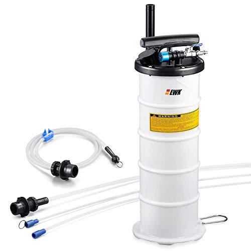 EWK Plus Version Pneumatic/Manual 6.5 Liter Oil Changer Vacuum Fluid Extractor Pump Tank Remover + Brake Bleeding Hose