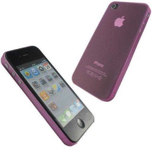 itronik® 0,35mm Ultra Slim flacher Bumper - die dünnste Schutzhülle für Apple iPhone 4 4G 4S - Bumpers Case Hülle Schale Schutz Tasche - pink rosa