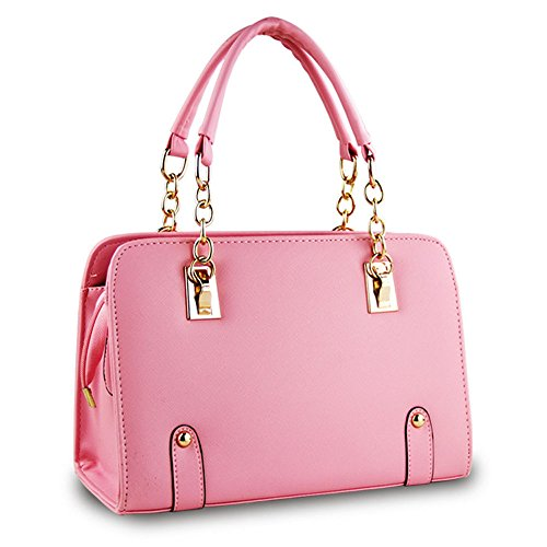 Shoulder Handbag Bag Pink Fashion DELEY Office Chain Women Handle Top Tote 84w7qYU
