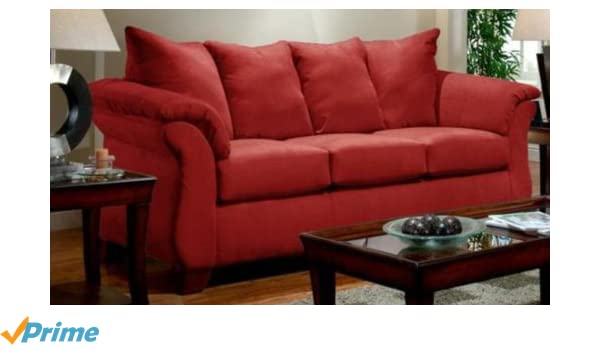 Amazon.com: Chelsea Home Furniture Armstrong Sofa, Sensations Red Brick:  Kitchen U0026 Dining