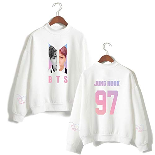 Loose Donna Kpop Casual Bianco Simyjoy Idol Pullover Bts Carina Kook Supporto Top Fitting Ragazze Cool Jung Fans Felpe 97 7wYFxw