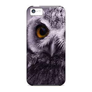 Flexible Tpu Back Case Cover For Iphone 5c - Eagle Owl
