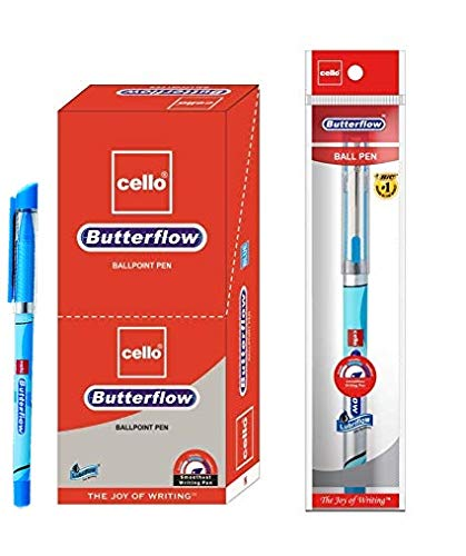 Cello Butterflow Ball Point Pen with Free Gift Inside with Every Pack. (10) (Cello Fountain Pen)