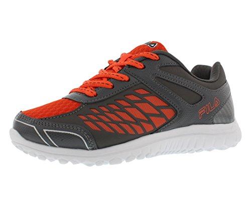 Fila Lightning Strike Boys Athletic Shoes Size US 2, Regular Width, Color Grey/Orange