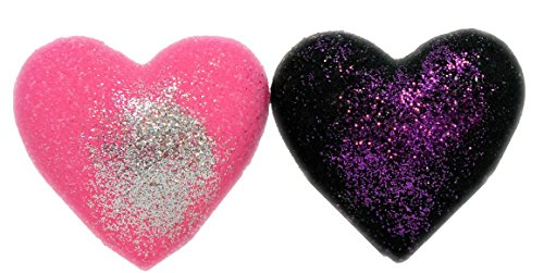 Bath Bombs 2Pcs Pink   Dead Blackened Heart 3 2 Oz W Kaolin Clay   Coconut Oil