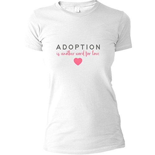 Price comparison product image AdoptionGifts.com Adoption Is Another Word For Love Women's T-Shirt / Adoption Gifts,  Clothing & Apparel