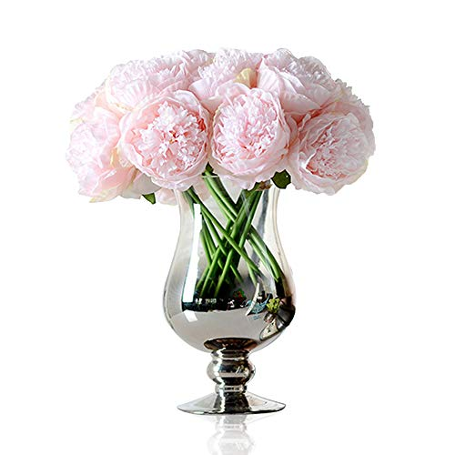 - Felice Arts Artificial Peony Silk Flowers Bouquet Room Home Office Wedding Party Flowers Decor(Pink)