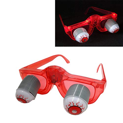 Luwint LED Light Up Scary Eyeball Glasses - Colorful Flashing Costume Glasses Gift for Birthday Cosplay Party Rave]()