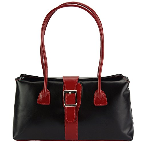 In Nero Borse Lucida Borsa Vera Mano Market rosso Leather Florence A Erminia Pelle 217 x71YP4