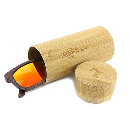 Bambou Soleil Polarisées Bois En Lunettes Orange Originals De Marron RawWood xUtYAwqZ