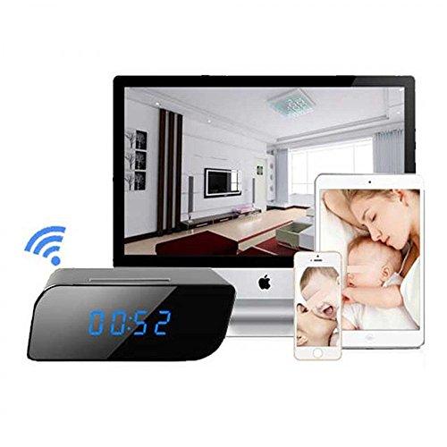 Redlemon Cámara Oculta WiFi en Forma de Despertador Digital. Cámara Espía con Monitoreo en Tiempo Real, Detección de...