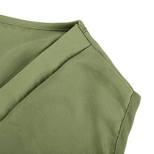 Tee Cou Uni Gr Manches Et Haut sans Irrgulier Shirt Fille Confortable Mousseline Casual Manche Classique Femme Tops Elgante Nues Tshirt V Mode paules fIPqPS