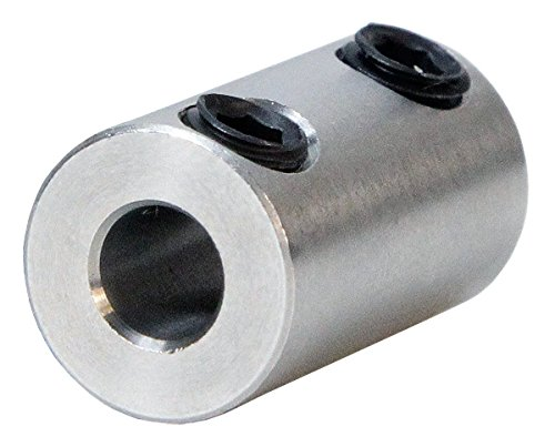 1/4 inch to 3/16 inch Stainless Steel Set Screw Shaft Coupler ServoCity