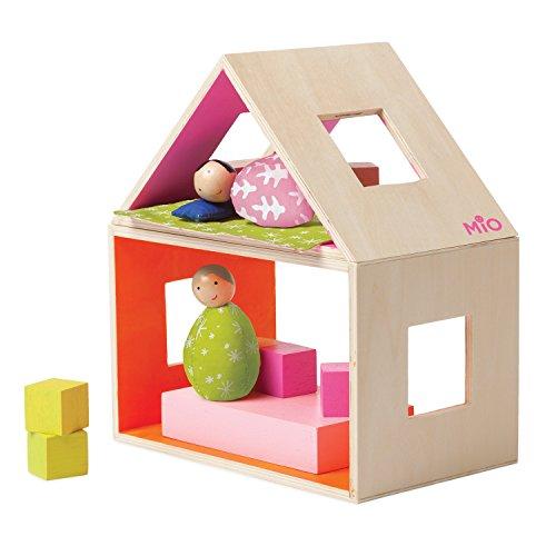 Manhattan Toy MiO Sleeping + 2 People Modular Wooden Building Set Playset - Modular Design Loft