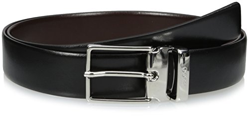 Hugo Hugo Boss Men's Galvo Reversible Leather Belt, black/dark brown, One (Boss Leather)