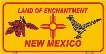 Smart Blonde LP-1529 Red Chili /& Road Runner Yellow New Mexico Novelty Metal License Plate