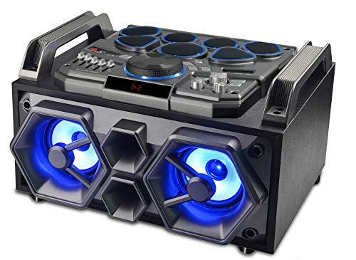 Sylvania Bluetooth Light-Up Speaker and DJ System with Drum Kit
