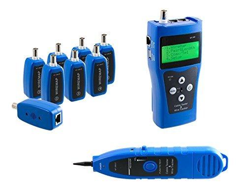 KALEA-INFORMATIQUE © - Testeur Professionnel Réseau RJ45 RJ11 USB BNC - Teste la longueur (RJ45) Cartographie (RJ45 BNC) Repère (RJ45 RJ11 BNC USB) - Permet de travailler sur 8 câbles en même temps