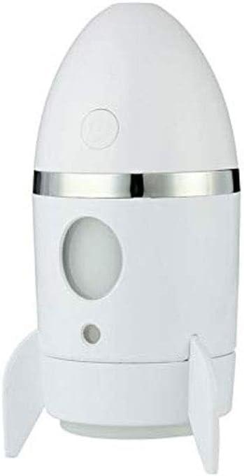 SMEJS Humidificador, difusor de aceites Esenciales, Mini USB Rocket luz de la Noche purificador de Aire Fresco ambientadores for Coches Aire Olor Neutraliser