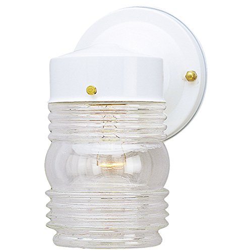 - Westinghouse Lighting 6687800 1-Light White Jelly Jar Fixture