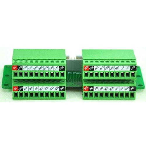 - Electronics-Salon Pi Panel Mount Pluggable Terminal Block Breakout Module, for Raspberry Pi.
