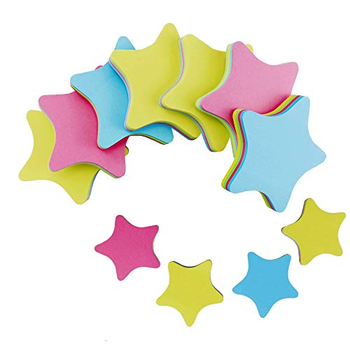 (PRALB 20PACK Rainbow Star-Shaped Self Sticky Notes Self-Adhesive Sticky Note Cute Notepads 100 Sheets Per Pad.(20 Pack/Box, Star))