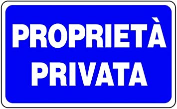 Imagen deVigor-Blinky Letreros de plástico «Proprieta privada».
