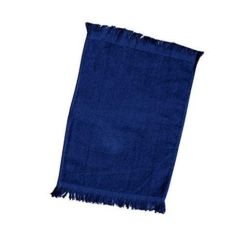 SHOPINUSA 120 Pack- Promotional Priced Fingertip Towels, Size 11'' x 18 (Navy, 100)