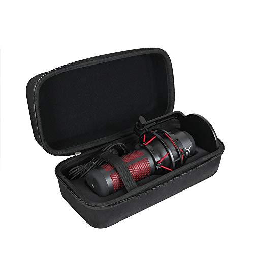 Anleo Hard Travel Case for HyperX QuadCast - USB Condenser Gaming Microphone (Black)
