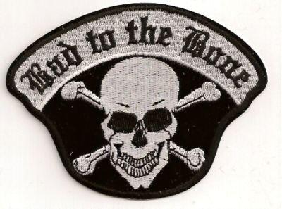BAD TO THE BONE SKULL CROSS BONES FUN Biker Vest Patch!