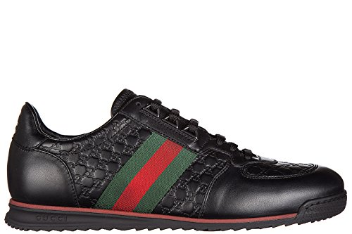 Gucci men's shoes leather trainers