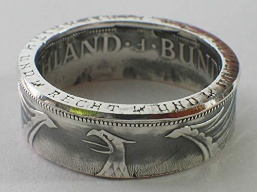 Münzring 5 Mark Silber Heiermann Silberadler Silber 625er Größe 54 bis 70 vintage