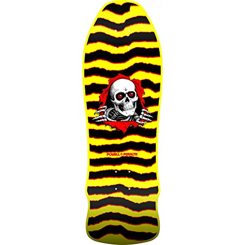 (Powell-Peralta Skateboard Deck GeeGah Ripper Yellow Old School 9.75