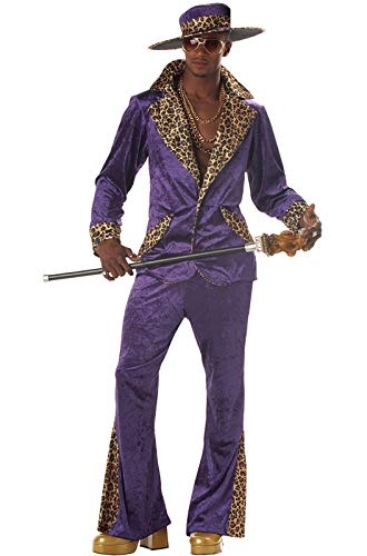 Halloween Costumes With Purple (California Costumes Men's Pimp/Adult, PURPLE,)