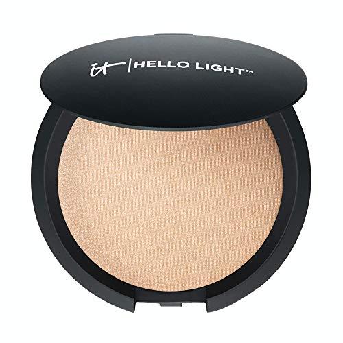 IT Cosmetics Hello Light Powder Luminizer – Anti-Aging Highlighter – Brightens, Hydrates & Awakens Skin – With Silk…