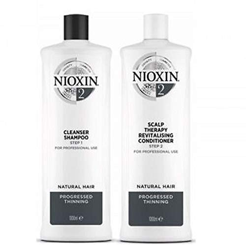 Nioxin System 2 Cleanser Shampoo & Scalp Therapy Conditioner Duo 33.8 oz/1L