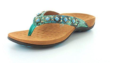 Vionic Womens Teal Sandals Toe Floriana Post gzqrwZg