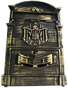 メールボックス ヨーロッパのレトロヴィラレターボックスヨーロッパのレトロなメールボックスがホーム裁判所に使用することができウォールマウント 郵便ポスト ステンレスポスト (色 : Bronze, Size : 42x26x8.5cm)
