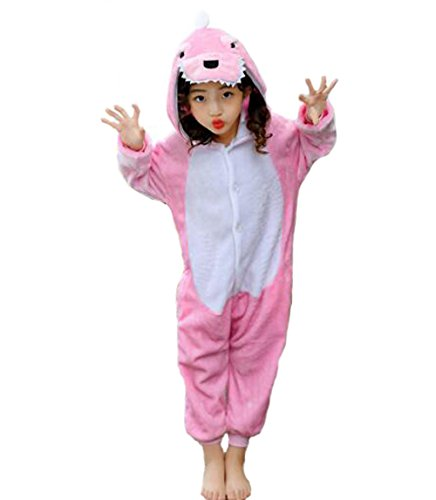 Veste Costumes (Children's Pajamas Animal Costume Kids Sleeping Wear Kigurumi Pajamas Cosplay (L(fits for height 43.3