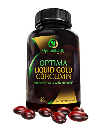 OptimaEarth Liquid Gold Curcumin w/NovaSol – Turmeric Curcumin Supplement – Relief Factor for Joint Pain and Inflammation – 185x More Bioavailable Than Standard Turmeric Extract