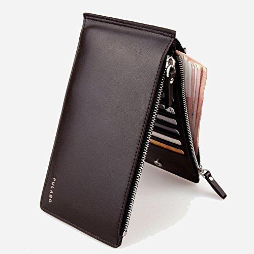 JD Million shop NewNew men wallets carteira feminina PU leather Wallet Cute Purse Clutches Coin Purse Cards Holder Bag for men billetera (Coffee)