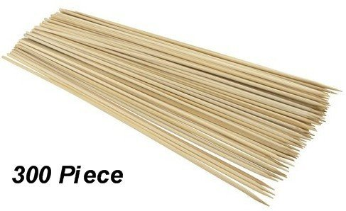 DINY Home Set of 100-3-pack (300 Skewers in Total) 12-Inch Bamboo Skewers For Fruit, BBQ, Shrimp, Vegetables and More