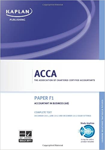 F1 Accountant in Business - Complete Text (Acca): Amazon co