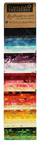 Prismatic~Judy Niemeyer Jelly Roll Strips - 48, 2.5 x 44 Cotton Strips by Timeless Treasures ()
